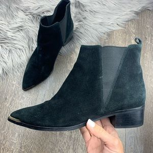 MARC FISHER 'YALE' SUEDE POINTED TOE ANKLE BOOT